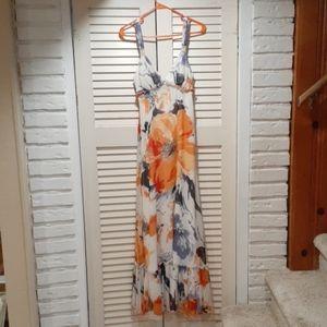 BCBG long floral dress
